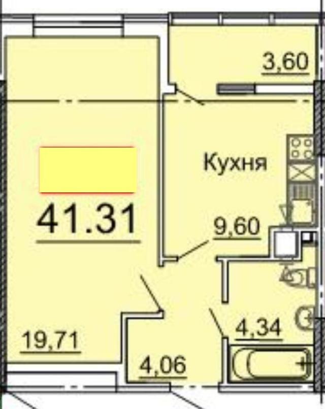 Продается 1-комнатная квартира в новострое на ул. Фонтанская Дор. — 33 800 у.е.