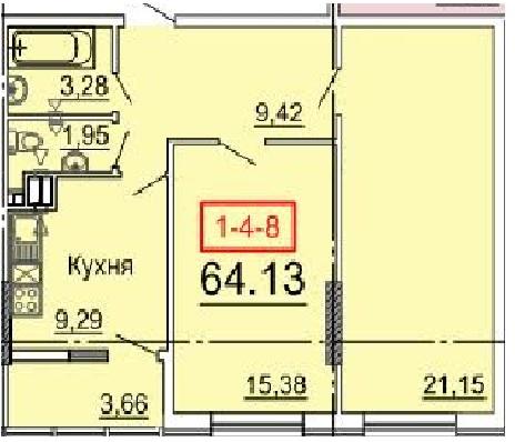 Продается 2-комнатная квартира в новострое на ул. Фонтанская Дор. — 59 100 у.е.
