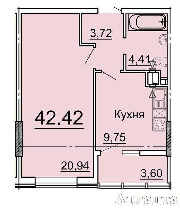 Продается 1-комнатная квартира в новострое на ул. Фонтанская Дор. — 39 100 у.е. (фото №2)