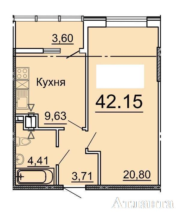 Продается 1-комнатная квартира в новострое на ул. Фонтанская Дор. — 34 500 у.е. (фото №3)