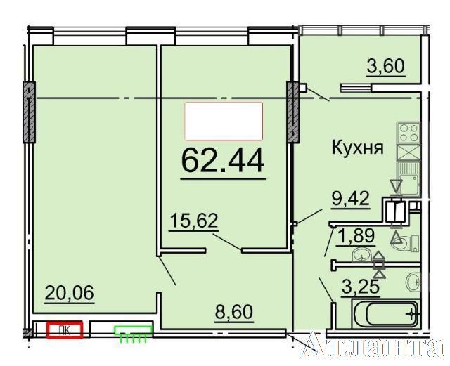 Продается 2-комнатная квартира в новострое на ул. Фонтанская Дор. — 51 200 у.е. (фото №3)