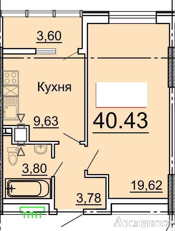 Продается 1-комнатная квартира в новострое на ул. Фонтанская Дор. — 37 300 у.е. (фото №2)