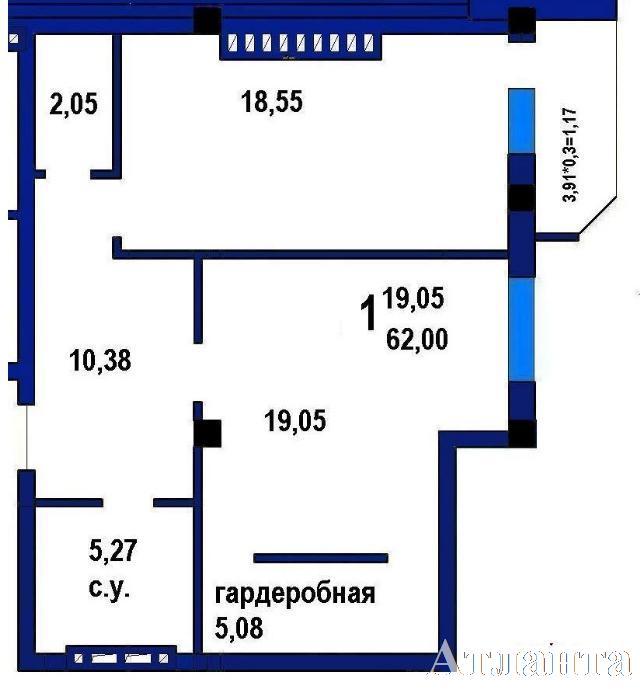 Продается 1-комнатная квартира в новострое на ул. Софиевская — 51 500 у.е.