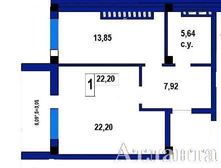 Продается 1-комнатная квартира в новострое на ул. Софиевская — 38 800 у.е. (фото №2)