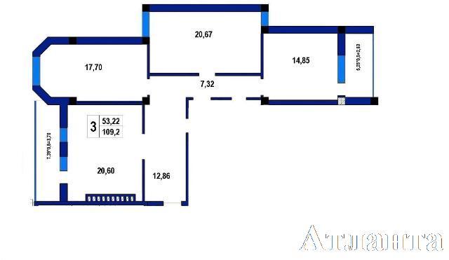 Продается 3-комнатная квартира в новострое на ул. Софиевская — 97 400 у.е. (фото №2)