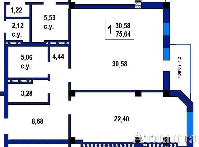 Продается 1-комнатная квартира в новострое на ул. Софиевская — 72 600 у.е.
