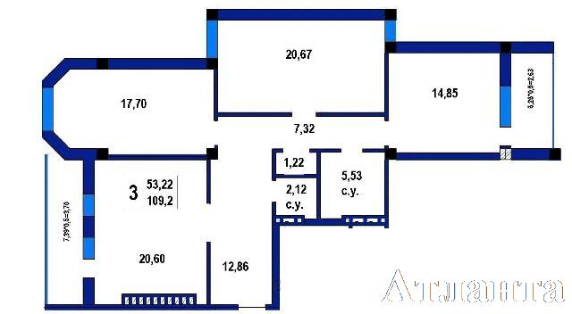 Продается 3-комнатная квартира в новострое на ул. Софиевская — 102 000 у.е.