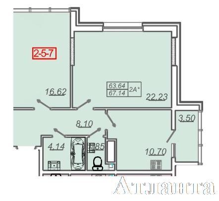 Продается 2-комнатная квартира в новострое на ул. Жм Дружный — 48 000 у.е. (фото №2)