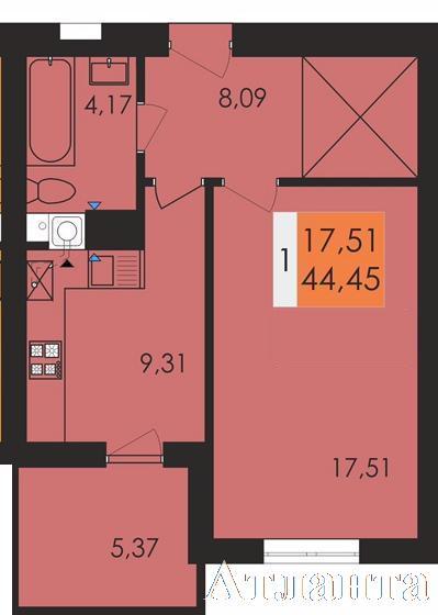 Продается 1-комнатная квартира в новострое на ул. Заболотного Ак. — 24 600 у.е.