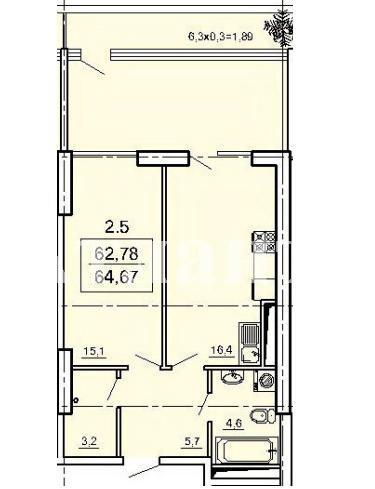 Продается 1-комнатная квартира в новострое на ул. Педагогическая — 51 800 у.е. (фото №2)