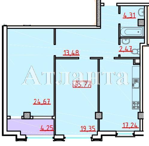 Продается 2-комнатная квартира в новострое на ул. Большая Арнаутская — 94 700 у.е. (фото №2)