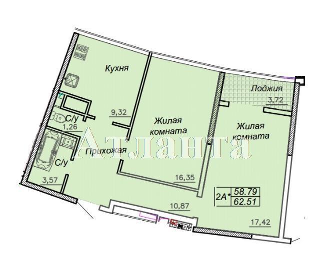 Продается 2-комнатная квартира в новострое на ул. Каманина — 60 700 у.е.