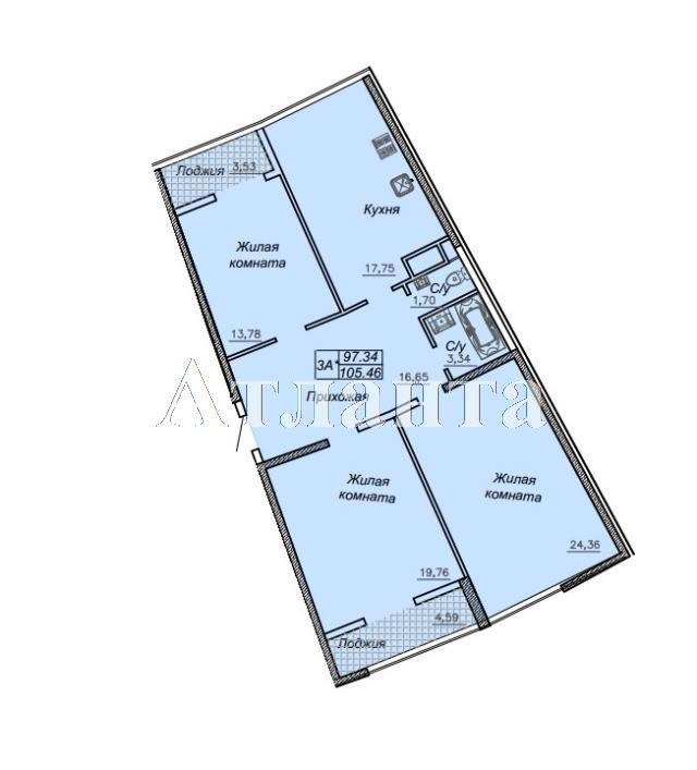 Продается 3-комнатная квартира в новострое на ул. Каманина — 83 900 у.е. (фото №3)