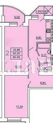 Продается 2-комнатная квартира в новострое на ул. Бочарова Ген. — 33 300 у.е. (фото №3)