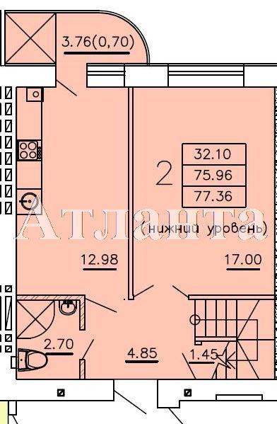 Продается Многоуровневая квартира в новострое на ул. Бочарова Ген. — 39 200 у.е. (фото №3)