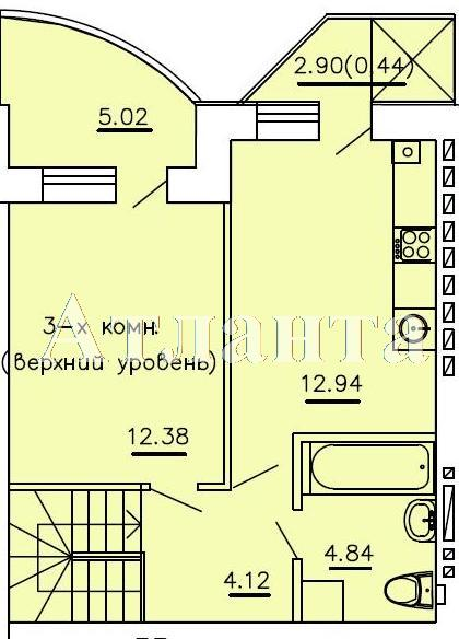 Продается Многоуровневая квартира в новострое на ул. Бочарова Ген. — 52 700 у.е. (фото №4)