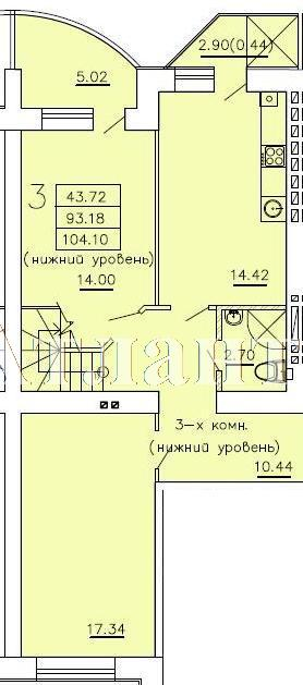 Продается Многоуровневая квартира в новострое на ул. Бочарова Ген. — 52 700 у.е. (фото №5)