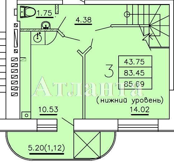 Продается Многоуровневая квартира в новострое на ул. Бочарова Ген. — 48 300 у.е. (фото №4)