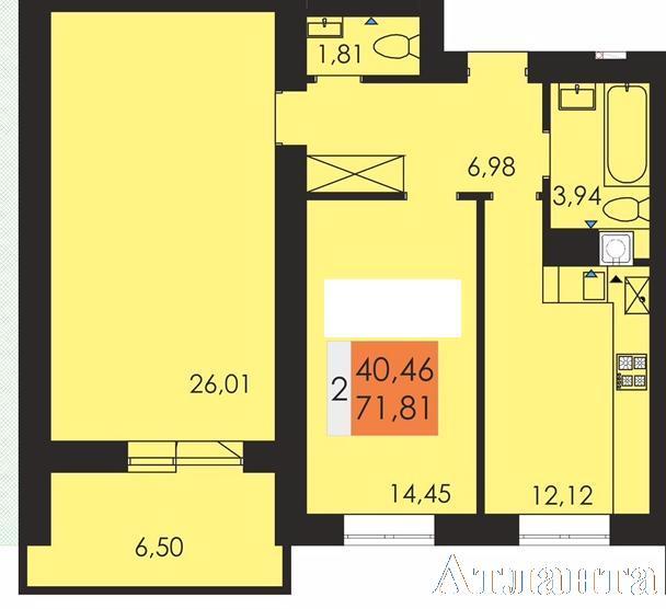 Продается 2-комнатная квартира в новострое на ул. Заболотного Ак. — 38 280 у.е.