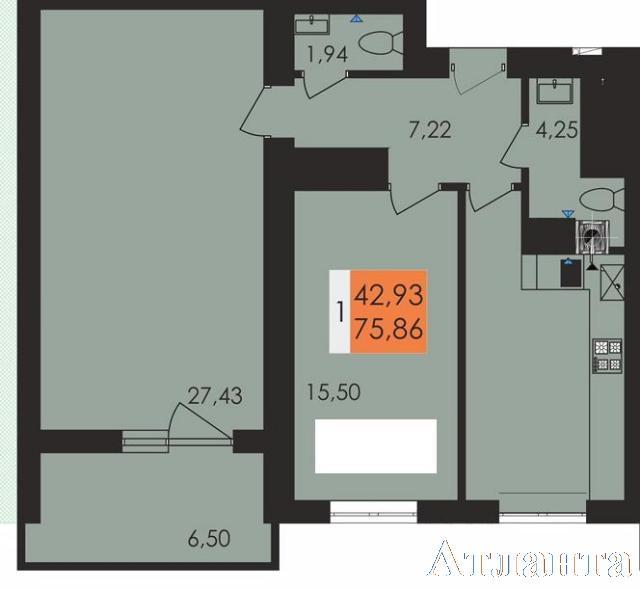 Продается 2-комнатная квартира в новострое на ул. Заболотного Ак. — 44 900 у.е.