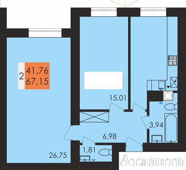Продается 2-комнатная квартира в новострое на ул. Заболотного Ак. — 46 700 у.е.