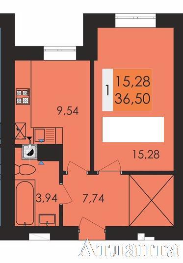 Продается 1-комнатная квартира в новострое на ул. Заболотного Ак. — 26 100 у.е. (фото №2)