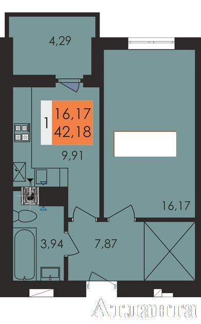 Продается 1-комнатная квартира в новострое на ул. Заболотного Ак. — 23 400 у.е.