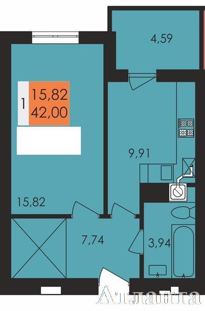 Продается 1-комнатная квартира в новострое на ул. Заболотного Ак. — 21 500 у.е.