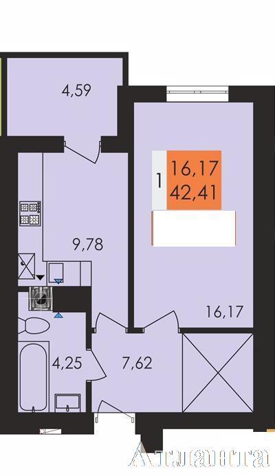 Продается 1-комнатная квартира в новострое на ул. Заболотного Ак. — 24 100 у.е.