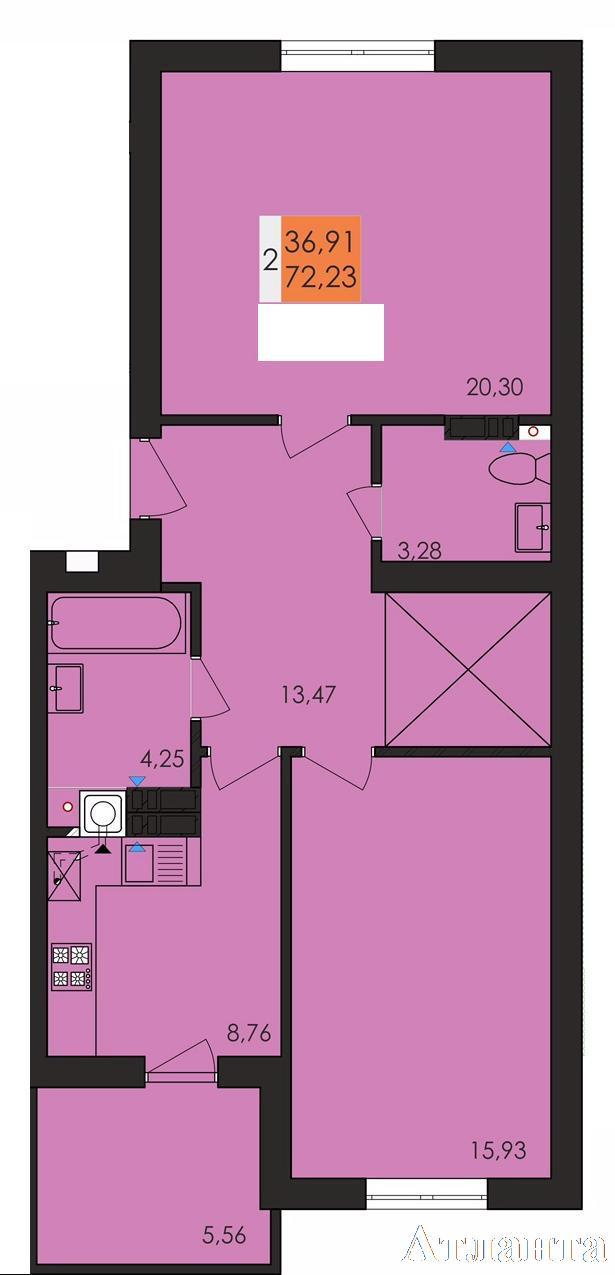Продается 2-комнатная квартира в новострое на ул. Заболотного Ак. — 40 600 у.е.