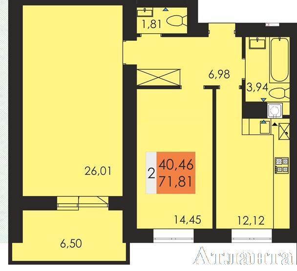 Продается 2-комнатная квартира в новострое на ул. Чехова — 38 280 у.е.