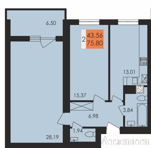 Продается 2-комнатная квартира в новострое на ул. Чехова — 37 700 у.е. (фото №2)