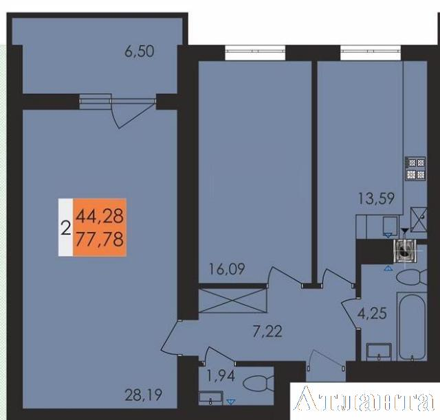 Продается 2-комнатная квартира в новострое на ул. Чехова — 42 860 у.е. (фото №3)