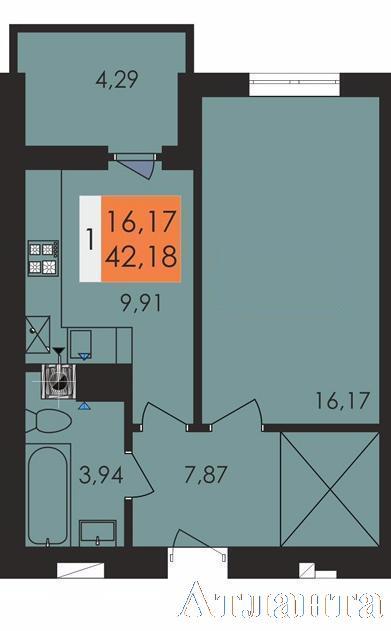 Продается 1-комнатная квартира в новострое на ул. Чехова — 23 260 у.е. (фото №3)