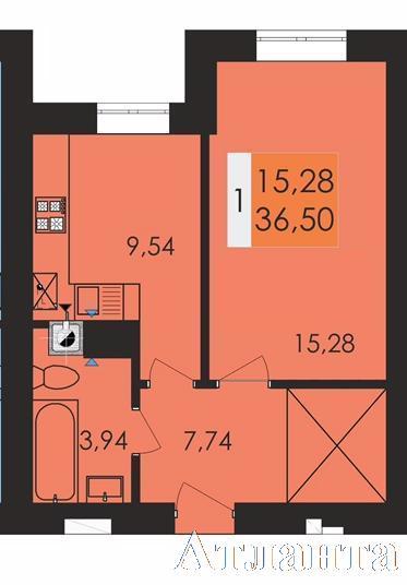 Продается 1-комнатная квартира в новострое на ул. Чехова — 26 600 у.е.