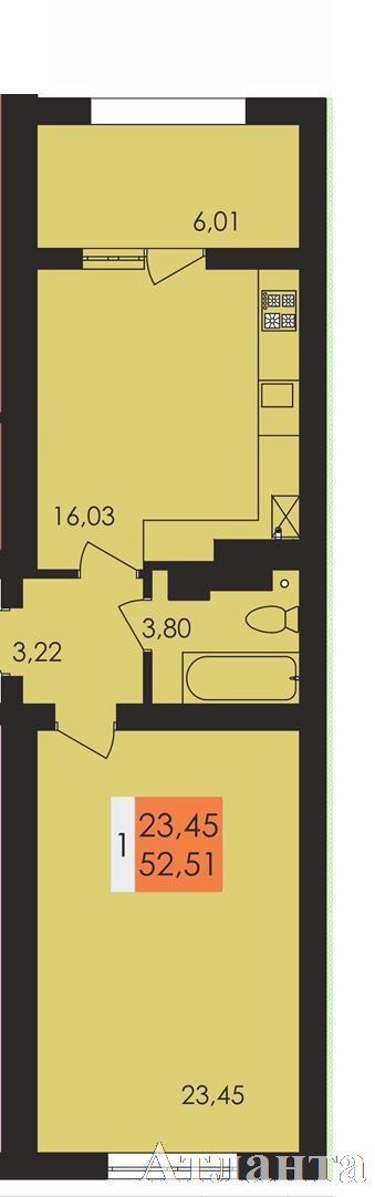 Продается 1-комнатная квартира в новострое на ул. Чехова — 28 900 у.е.