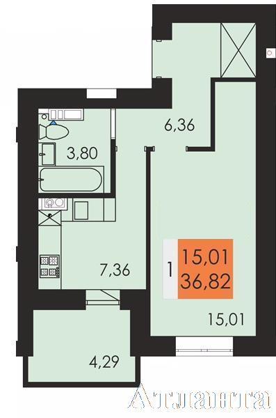 Продается 1-комнатная квартира в новострое на ул. Чехова — 20 800 у.е.