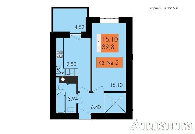 Продается 1-комнатная квартира в новострое на ул. Чехова — 21 400 у.е.
