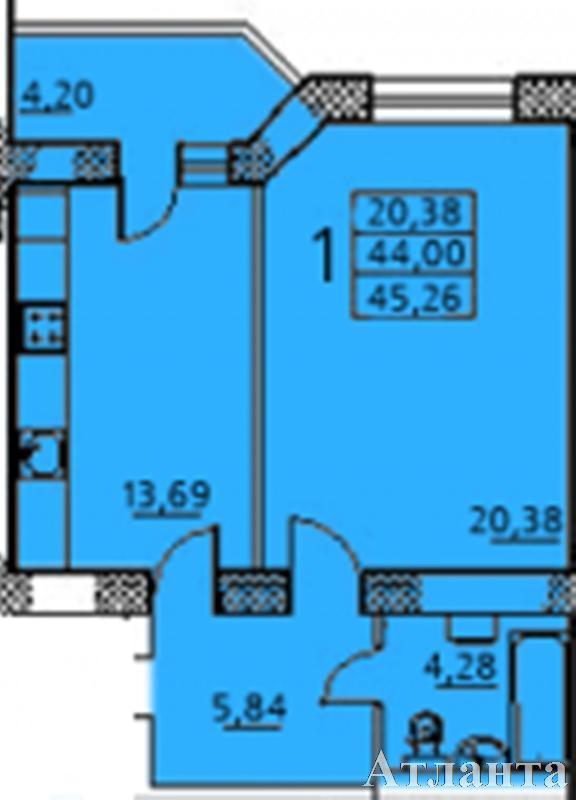 Продается 1-комнатная квартира в новострое на ул. Заболотного Ак. — 36 000 у.е.