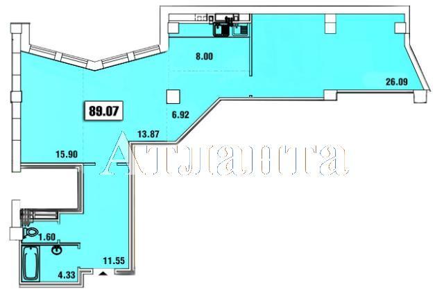 Продается 1-комнатная квартира в новострое на ул. Удельный Пер. — 94 600 у.е. (фото №6)