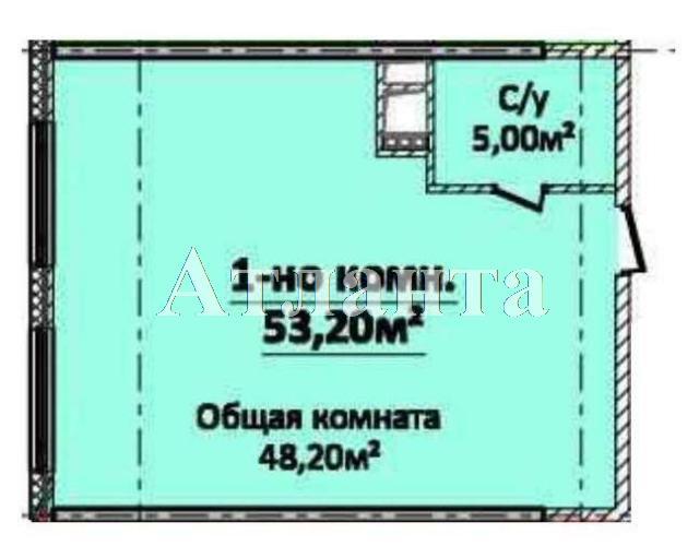 Продается 1-комнатная квартира в новострое на ул. Новобереговая — 59 600 у.е. (фото №2)