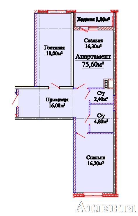 Продается 2-комнатная квартира в новострое на ул. Михайловская — 51 480 у.е. (фото №3)