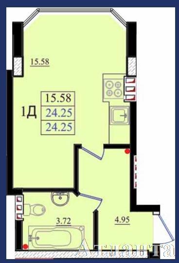Продается 1-комнатная квартира в новострое на ул. Николаевская — 16 450 у.е. (фото №3)