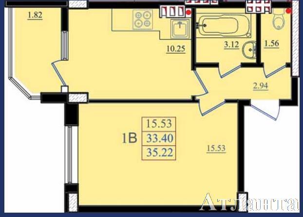 Продается 1-комнатная квартира в новострое на ул. Николаевская — 22 660 у.е.