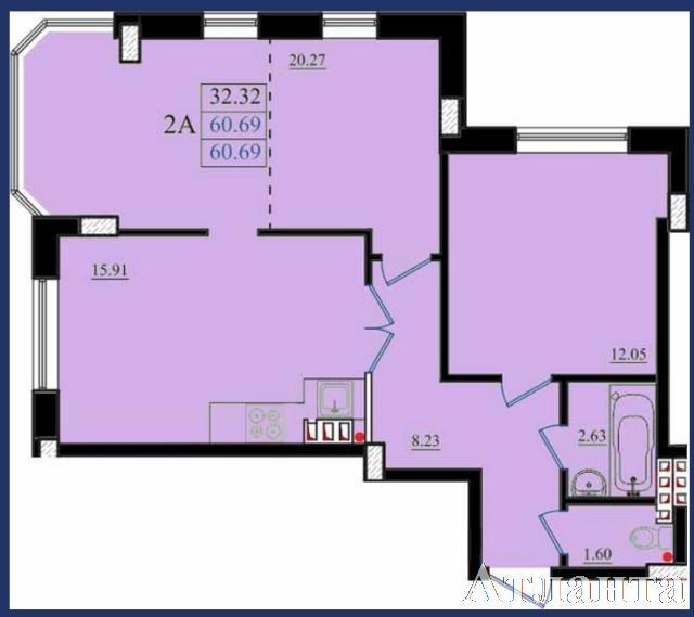 Продается 2-комнатная квартира в новострое на ул. Николаевская — 36 540 у.е.