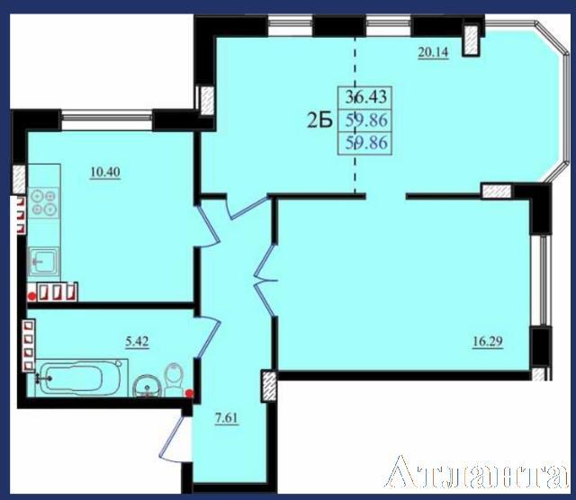 Продается 2-комнатная квартира в новострое на ул. Николаевская — 36 720 у.е. (фото №2)