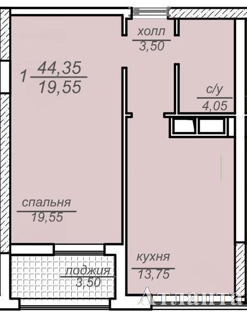 Продается 1-комнатная квартира в новострое на ул. Французский Бул. — 74 120 у.е.