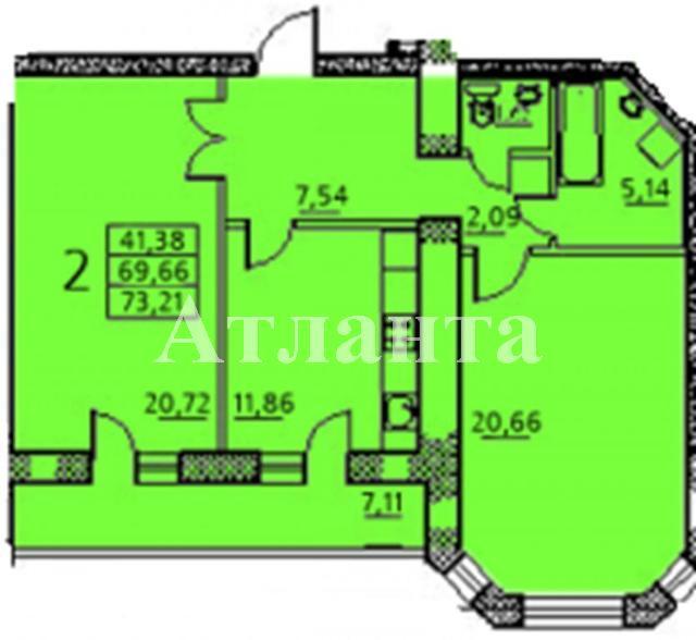Продается 2-комнатная квартира в новострое на ул. Заболотного Ак. — 51 210 у.е. (фото №5)