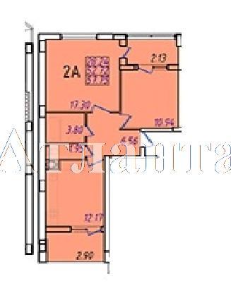 Продается 2-комнатная квартира в новострое на ул. Жм Дружный — 33 200 у.е.
