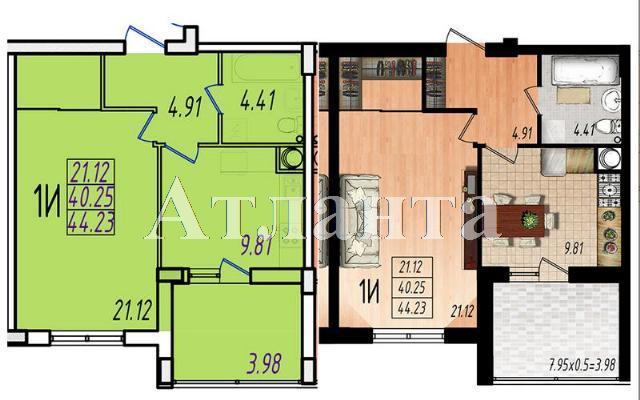 Продается 1-комнатная квартира в новострое на ул. Жм Дружный — 26 310 у.е.